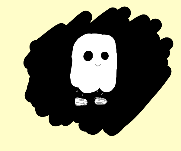 Ghost with shoes