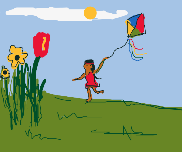 girl with a kite