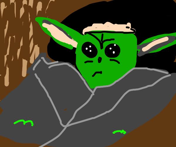 Baby yoda is sad