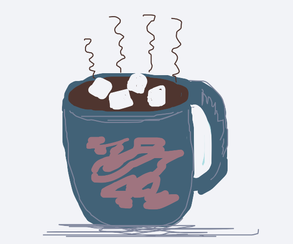Mug of hot cocoa  with a marshmallow