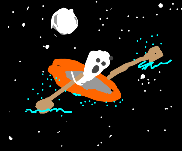 Ghost in a Raft floating in Space