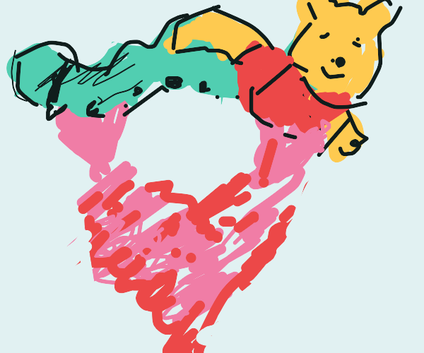 Heart's STRUGGLING to lift that Caterpil-Bear