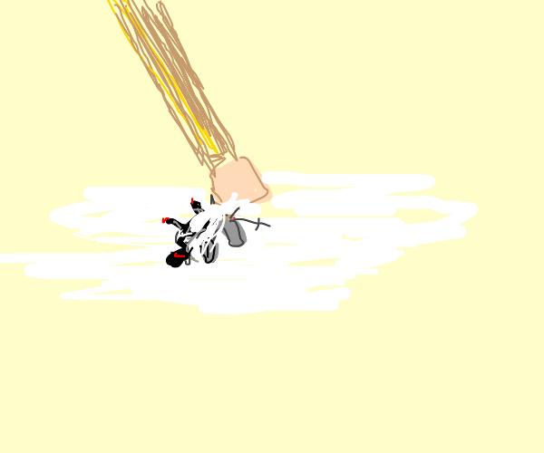 pencil erases mini knight