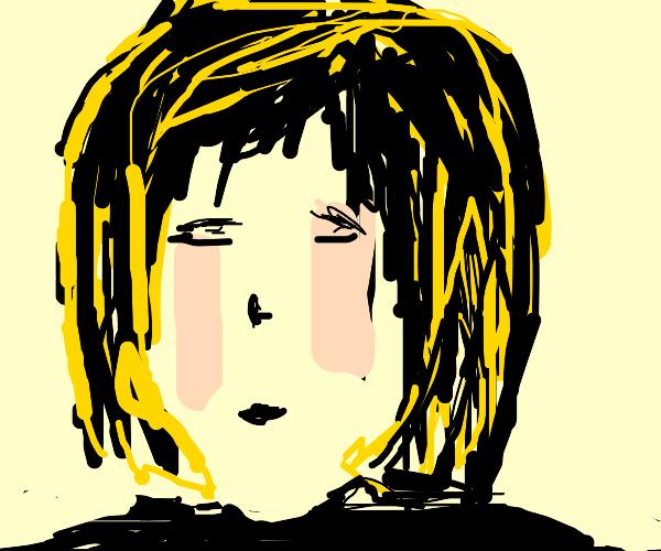 Blonde anime goth