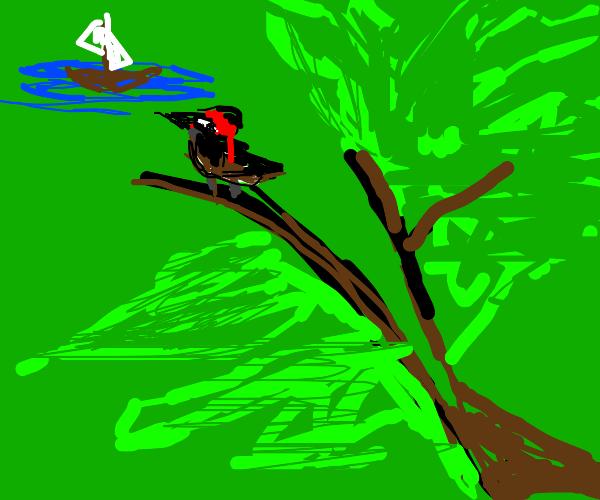 Captain Jack Sparrow as a sparrow