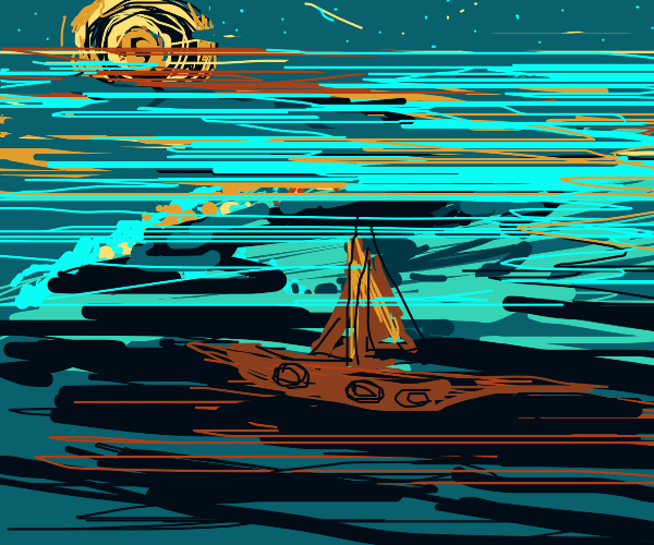 A night spent on the wide open seas