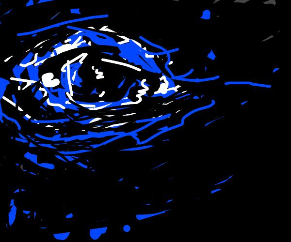 Single eye in the dark
