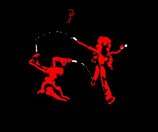 Girl dances