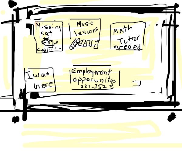 A bulletin board