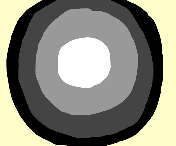 gray circle with black border