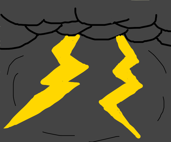 thunderbolts and lightning,veryvery frighting