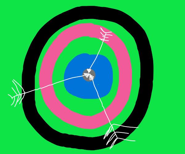 3 arrows on target