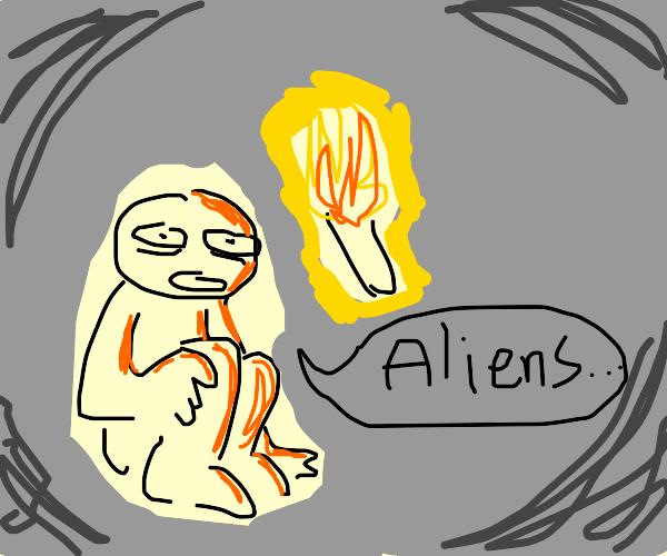 Man living cave believes in conspiracies