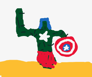 Captain America but its a cactus