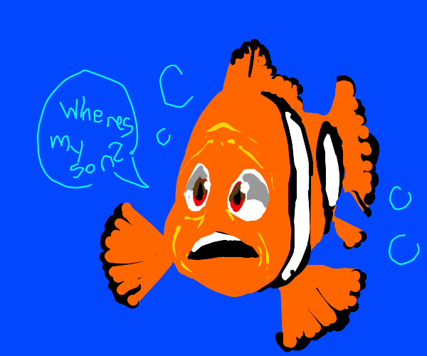 Clownfish wonders where his son is