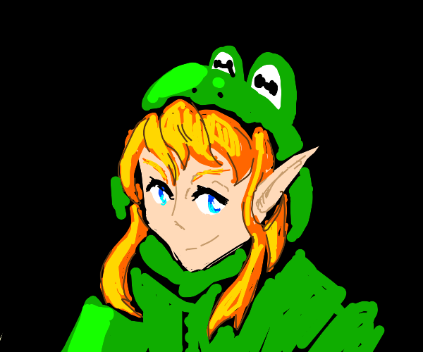 link in frog suit