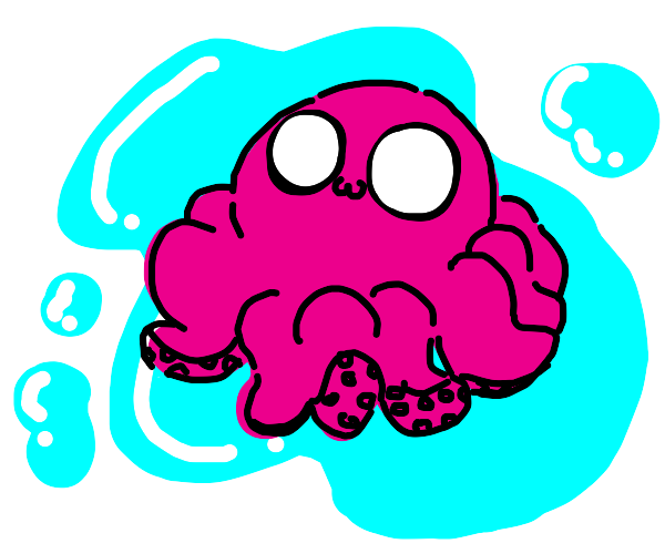 Octopus with an 0w0 face