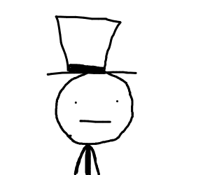Head with top hat