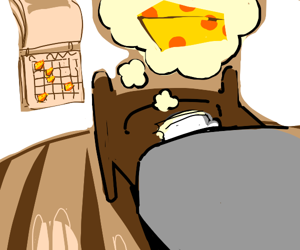 Sometimes, I dream about cheese