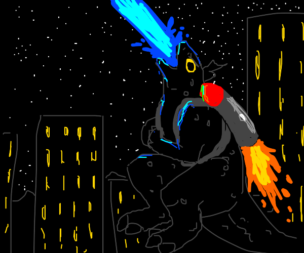 Godzilla has a jetpack!