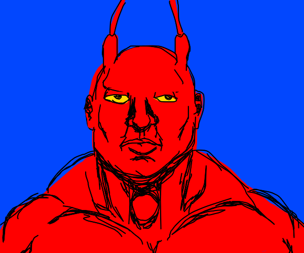 Larry the lobster but realistically drawn