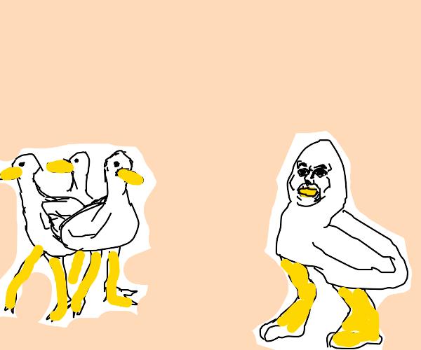 Ducks Shun Duckling with human face