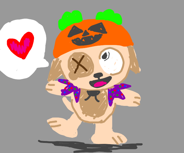 halloween dog wants love