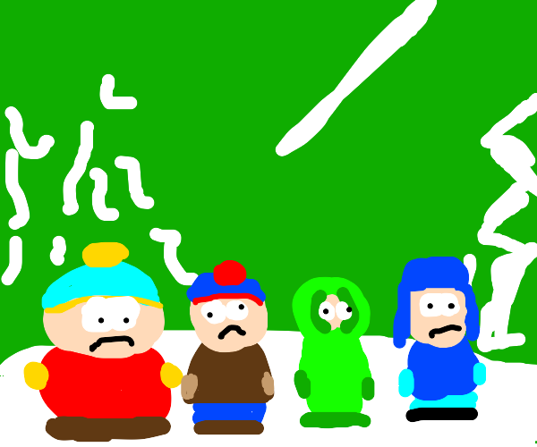 The main 4 from South Park
