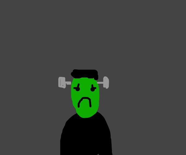 Frankenstein is very sad