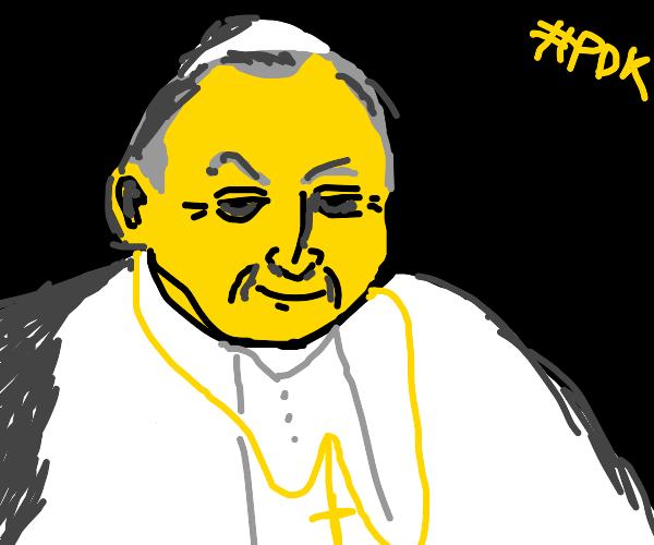 The pope in the dark