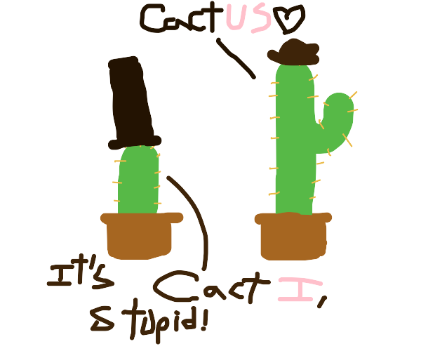 Cactus with hats