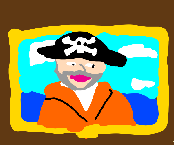 painting of ''captain'' of sponge bob