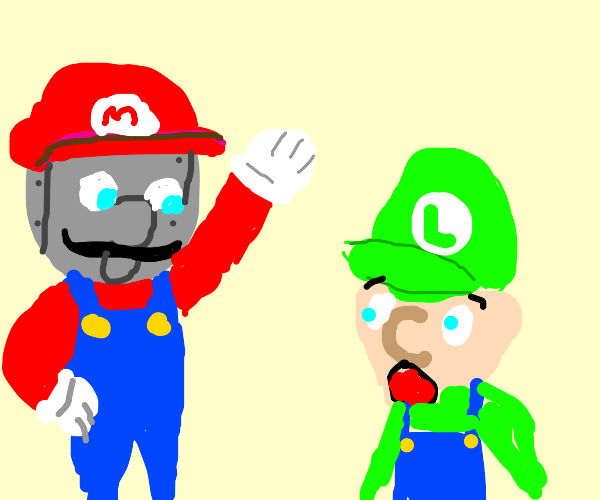 Robot acts as Mario... Luigi is fooled