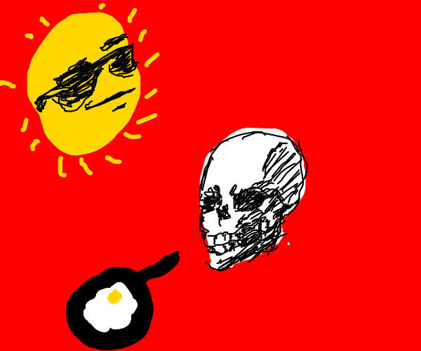 Skull baking in the sun