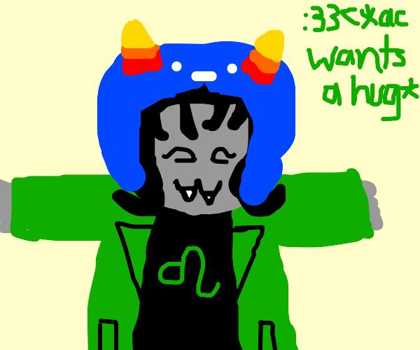 homestuck character asks for hug
