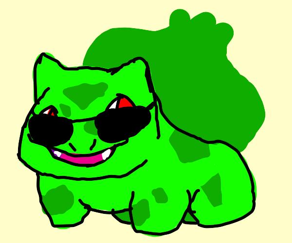 Bulbasaur wears sunglasses