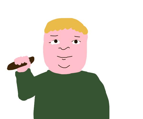 Bobby has a poo knife