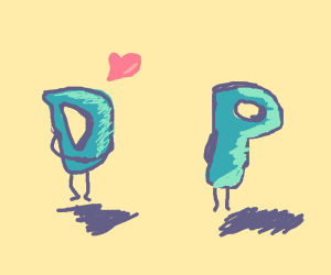 Drawception D in love with P
