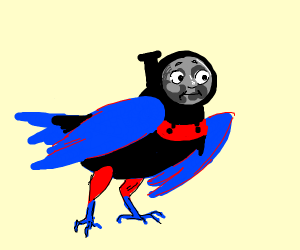 thomas the tank as a bird