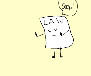 stop says the law