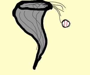 Baseball in a Tornado