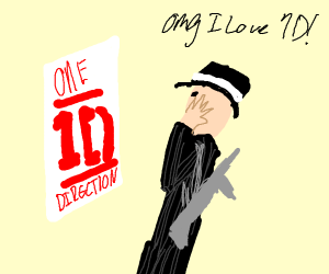 Gangster fangirling over One Direction