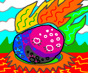 Picasso paints a meteor impact