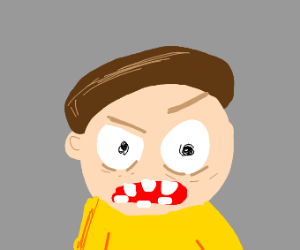 morty is angry!