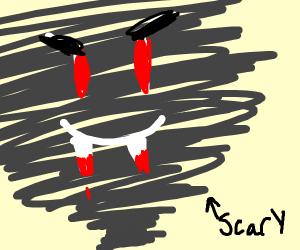 tornado with fangs