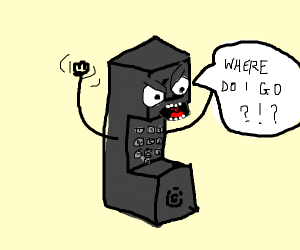 Telephone looking for direction