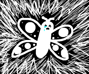 Depressed butterfly cries alone