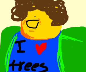 Shaggy Bob Ross Drawception