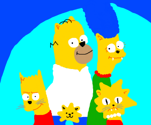 The Simpsons but they're cats