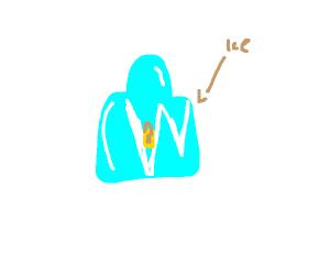 Lock stuck in ice